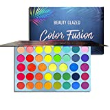 Eyeshadow Palette Metallic Eye Shadow Matte Makeup Pallettes Sets Color Fusion Palette Rainbow and Shimmer Pigmention Easy to Blend Make Up Pallet 39 Color