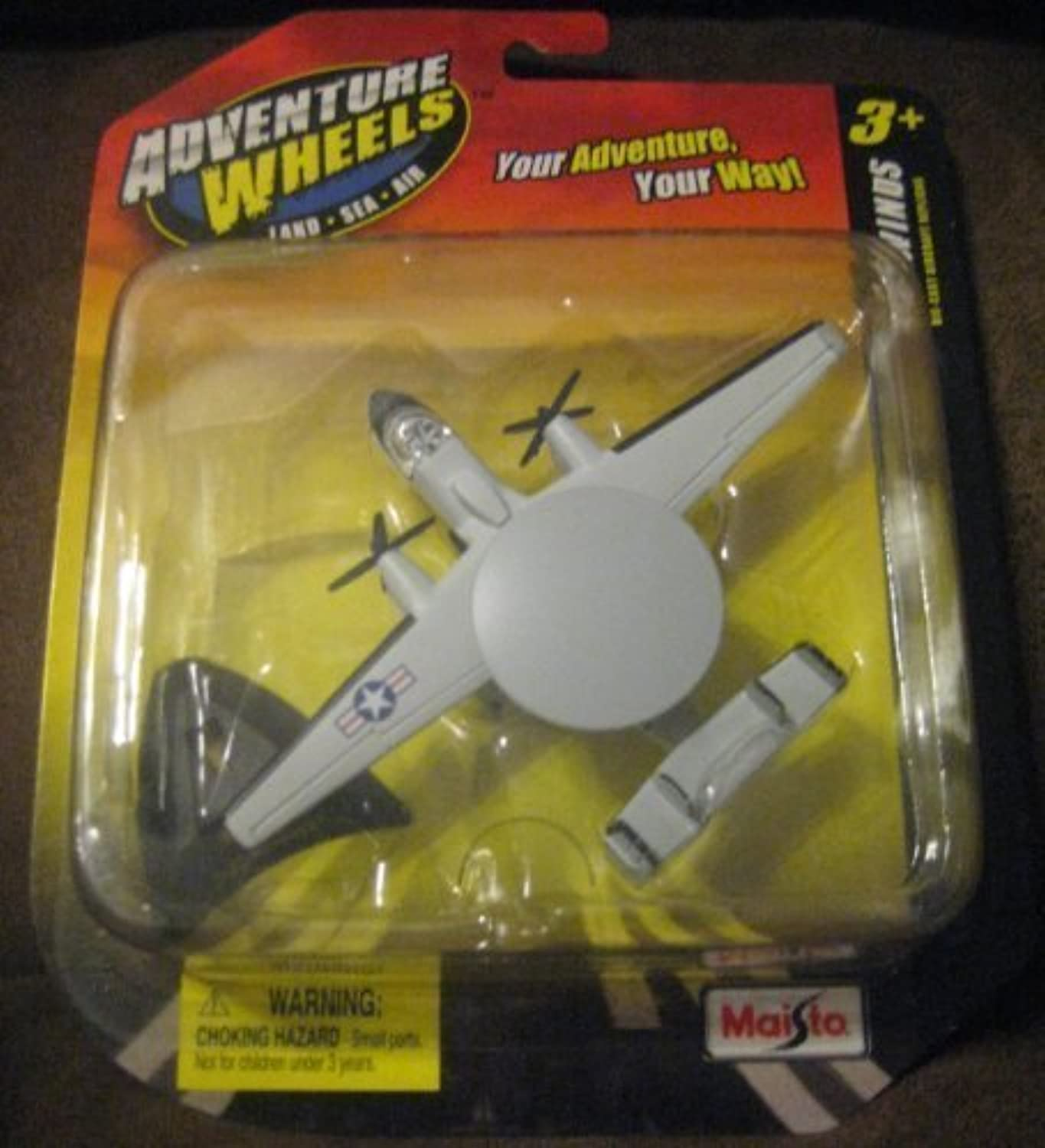 Adventure Wheels Tailwinds E-2c Hawkeye Navy Die-cast Airplane, Land-Sea-Air by Maisto (English Manual)