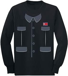 Kim Jong Un Suit & Tie Easy Halloween Costume Youth Kids Long Sleeve T-Shirt
