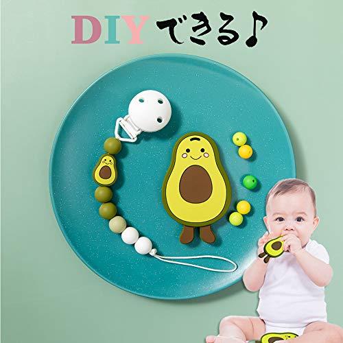 MMH Wooden Teether 歯がため ベビー用 食品級シリコン カミカミ アボカド玩具 BPAフリー おもちゃ 赤ちゃん 出産祝い ギフト プレゼント 3ヶ月から対象 5.7*9.4cm 1P-5.7*9.4cm