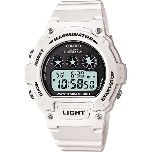 Casio Damen Digital mit Resin Armbanduhr W214HC7A