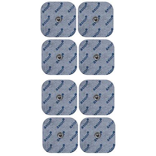8 electrodos para electroestimuladores BLUETENS - Parches TENS EMS conexión de botón - Almohadillas calidad axion