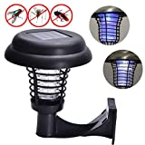 funfunfly Solar mosquito Lamp Pest Bug Zapper Insect trap LED lamp for Garden
