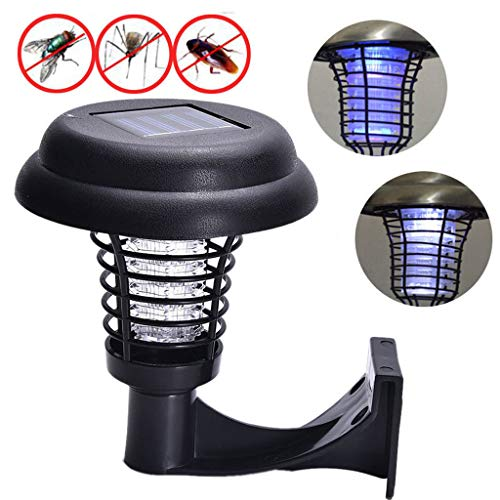 KAR Mückenschutz Killer-Lampe Solar-Powered im Freien Garten-LED-Licht Mosquito Pest Bug Zapper Insektenvernichter Wegbeleuchtung