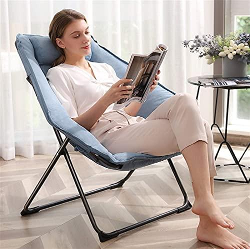 Lazy Sofa Chair Leisure Single Suede Chair Liege Strandstuhl Klappstuhl Mittagspause Nickerchen (Color : 3)