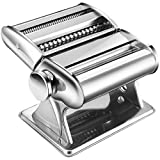 Preoin Homemade Pasta Maker, Manual Pasta Machine with 8 Adjustable Thickness Settings Dough Roller for Fresh...