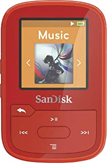 SanDisk - Clip Sport Plus 16GB Bluetooth MP3 Player (Red)