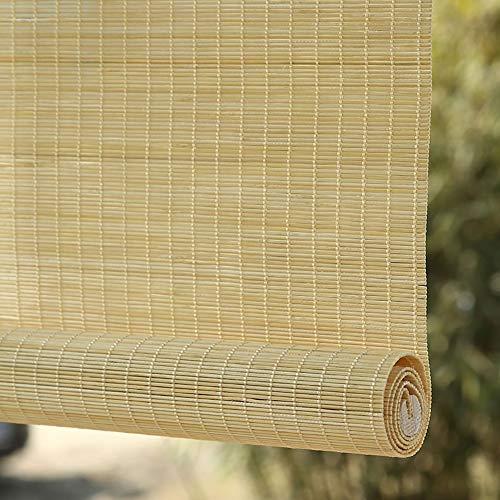 ZXL - Persianas enrollables para exteriores, para terraza, cenador, porche, pérgola, 80 cm, 100 cm, 110 cm, 120 cm, 135 cm de ancho, bambú, 80×120cm
