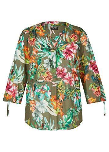 Via Appia Due Damen Luftige Bluse mit exotischem Print