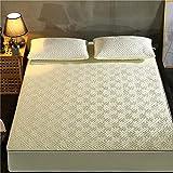 XGguo Protector de colchón - Protector de colchón antialérgico Otoño e Invierno sábana Gruesa Tridimensional-Laberinto-Beige_180cm × 220cm
