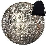 SeTing Moneda de 1763 del antiguo Imperio Romano Caballero Italia - Moneda Hobo Nickel Europe Challenges Monedas Italia Moneda + Bolsa KaiKBax - Moneda Mundial para Amigos Servicio Permanente