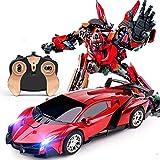Transforme El Robot Del Automóvil, 2.4 G De Deformación Por Inducción Coche De Control Remoto, Robots De Rescate De Los Héroes, Robot De Deformación De Automóviles, Deformación De Un Solo Clic - Coche