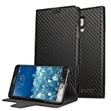 Galaxy Note Edge Case, CoverBot Samsung Galaxy Note Edge Flip Wallet Case with Stand CARBON FIBER. Slim Style with Folio Flip Cover