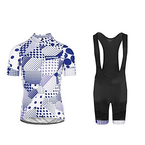 Uglyfrog Completo Abbigliamento Ciclismo, Maglia Ciclismo Maniche Corte con Pantaloncini Abbigliamento da Ciclismo Asciugatura Rapida per MTB Ciclista, Reticolo di Griglia