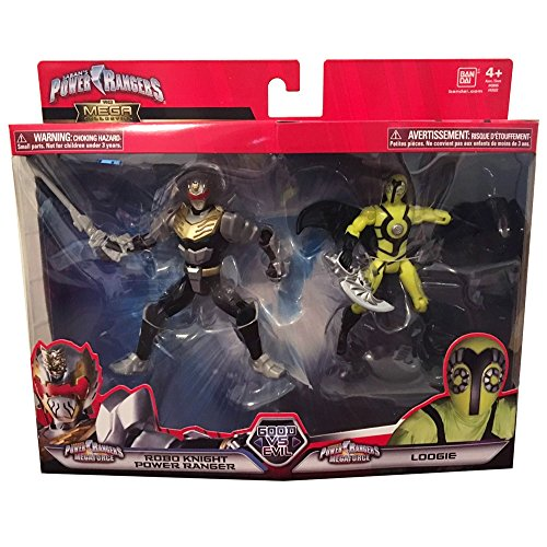 Power Rangers Super Megaforce Good Vs. Evil Robo Knight Power Ranger and Loogie Action Figure 2-Pack