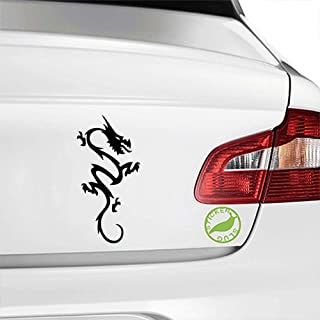 Stickerslug Abstract Middle Ages Folklore Fire Breathing Dragon Creature Gloss Vinyl Decal Sticker for Cars, Trucks, Vans, Windows, Crafts e20638 (Black, 5 inch)