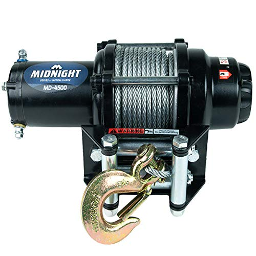 MotoAlliance VIPER Midnight ATV/UTV Winch 4500lb with 50 feet Steel Cable