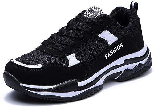 Hausschuhe deportivas para damen, nueva academia, otoño, transpirable, superficie neta, zapatillas nuevas, corte bajo con cordones, schuhe de damen con cordones (Farbe   UN, tamaño   37)