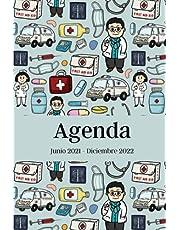 Agenda Junio 2021 - Diciembre 2022: Regalo para Estudiantes de Medicina, Médicos, Doctores, Calendario 21-22 Vista Semanal y Mensual, Regalo de Graduación