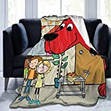 Lorieciosen Lightweight Men Clifford The Big Red Dog Blanket Soft Funny Flannel Throw Blanket for Cozy Bed Sofa 50'X40'