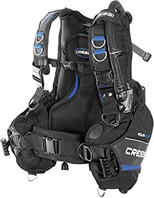 Cressi Aquaride Pro, Buoyancy Compensator Device Blue, made in Italy