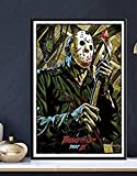 YYTTLL Wooden Jigsaw Puzzles 1000 Pieces Poster Friday The 13Th Horror Movie Poster Art For Adults Children Games Educational Toys