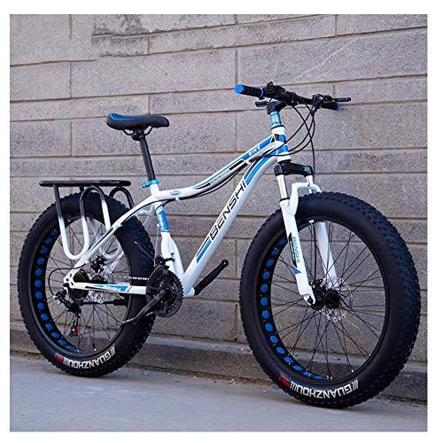 Adult Fat Tire Mountain Bikes, Doppelscheibenbremse Hardtail Mountainbike, Vorderachsfederung Fahrrad, Frauen All Terrain Mountainbike, orange A, 26-Zoll-27-Speed Geeignet für Männer und Frauen, Radfa