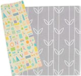 Baby Care Play Mat - Haute Collection (Large, Sea Petals - Grey) - Play Mat for Infants – Non-Toxic Baby Rug – Cushioned Baby Mat Waterproof Playmat – Reversible Double-Sided Kindergarten Mat …