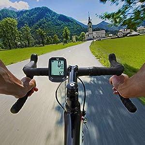 YS Cuenta Km Inalámbrico Impermeable Cuentakilómetros Para Bicicleta ,Auto Despierta,Velocimetro Bicicleta HD De Pantalla LCD Con Retroiluminación,Muti-Funcion Para Bici De Montaña ( Type B)