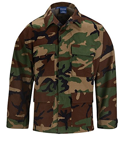 Propper Men's Bdu Coat, Woodland, Large Long