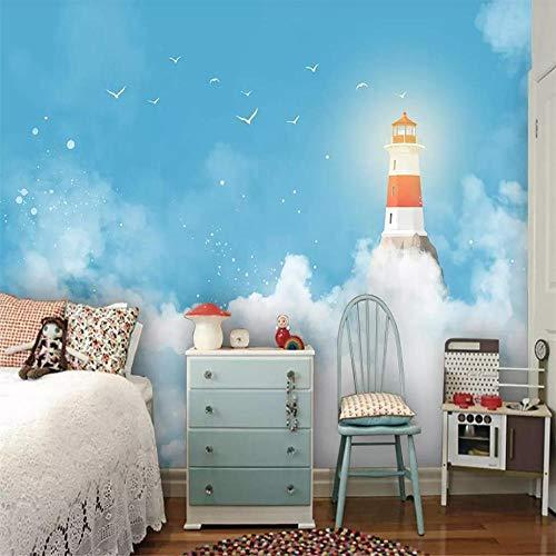 Fotobehang, muurstickers, gespecialiseerd, voor het maken van behang, modern, minimalistisch, mediterrane hemelsblauw, kinderkamer, achtergrond About 150*105cm 2 stripes