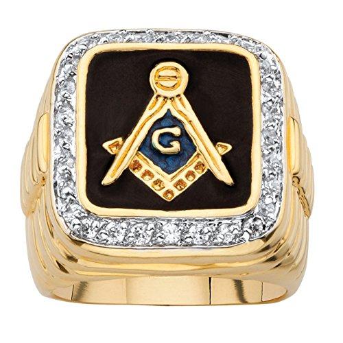Palm Beach Jewelry Men's 14K Yellow Gold Plated...