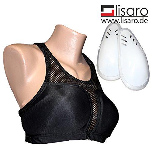 Lady Brustschutz mit Bustier aus atmungsaktiven Gewebe, Kickboxen, Boxen,Muay Thai,Karate (M)