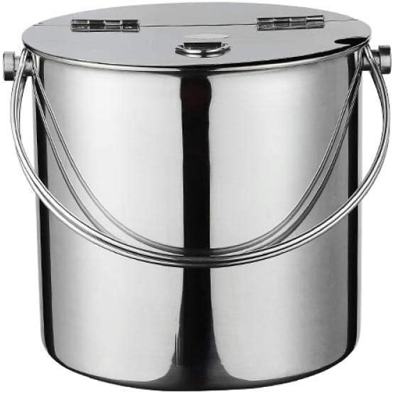 WJCCY Ice Bucket Stainless Steel With Super Special SALE held Half- Home Lid Buffet Max 73% OFF