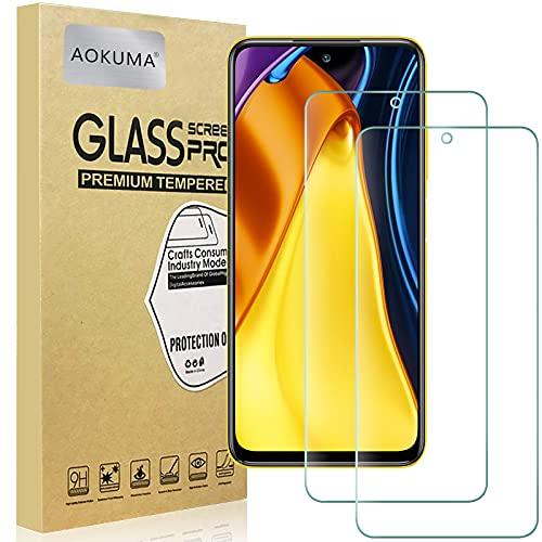 AOKUMA Cristal Templado Xiaomi Poco M3 Pro 5G, [2 Unidades] Protector Pantalla...