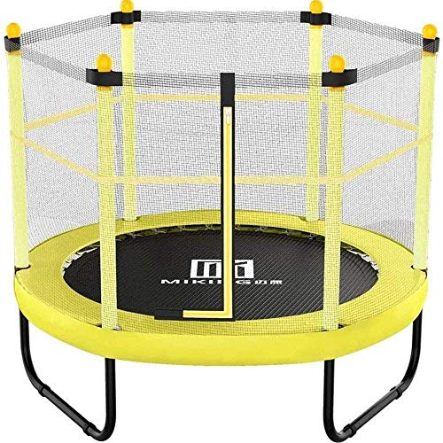 LuoMei 60 inch Adults and Kids Trampolines with Safety Enclosure Net for Kids Trampoline Outdoor and Indoor Spotrsyellow, 154cm