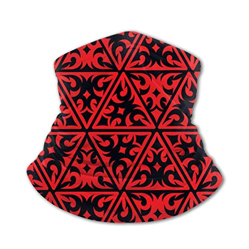 LAKILAN Magic Scarf Headwear Rotes Und Schwarzes Tribal Design...