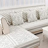 Cojín de columpio al aire libre de algodón acolchado antideslizante, decorativo grueso sofá funda de protección Cushion-A 110 x 160 cm