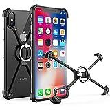 iphone 5 aluminum bumper - OATSBASF Bumper Case for iPhone Xs Max, Aluminum Metal X-Frame Bumpers with Ring & Screw