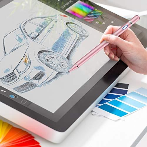 Mixoo Stylus Pen, kapazitiver 1,5 mm feiner wiederaufladbarer Digitalstift Kompatibel mit iPhone/iPad/iPad Pro/Samsung Android/ios und Allen Anderen Touchscreen-Geräten (Kein Palm Reject) (Roségold)