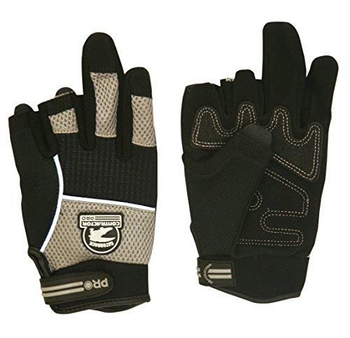 Gatorback 633-M DuraGrip Fingerless Work Gloves for Electricians, Carpenters, HVAC, Framers, etc. Tough Gloves by Contractor Pro (Medium)