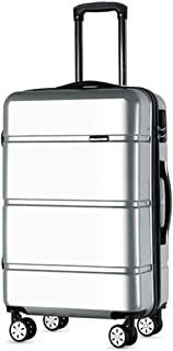 TYUIO Luggage Piece set ABS Hardshell with Spinner Durable and Lightweight PC Suitcase (Color : Silver, Size : 26 Inches)