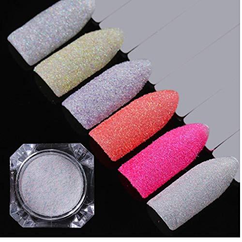 PiniceCore Nail 1 g de Arena de Verano holográfica azúcar del Brillo del Polvo de uñas de Colores del Pigmento del Arte del Clavo de 12 Colores de Caramelo Nacido Bastante