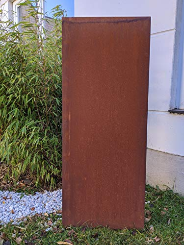 Zen Man Garten Sichtschutz aus Metall 1mm Rost Gartenzaun Edelrost Sichtschutzwand Handarbeit 50*H125cm 031506-3