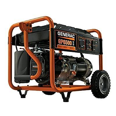 Generac GP6500 6,500 Watt 389cc OHV Portable Gas Powered Generator (Discontinued by Manufacturer)
