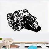 Vinilo Adhesivo De Pared Para Motocicleta Moto Racer Motor Bike Decals Para Sala De Estar Habitación Para Niños Decoración Para El Hogar 120X80Cm
