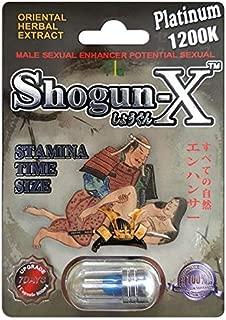 *New* Shogun-X Platinum Male Performance Enhancement Oriental Extract (Count:6)