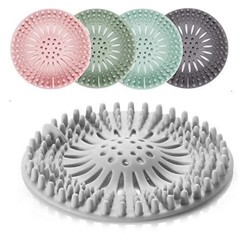 Vockvic Abflusssieb, 5 Pcs Silikon Haarfänger Abfluss Farbige Haar Stopper, Flexibles Dusche Haarsieb Badewannensieb für Waschbecken Badezimmer Dusche Küche