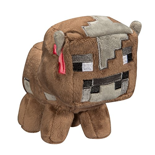 JINX Minecraft Baby Cow Plush Stuffed Toy, Multi-Colored, 5.5