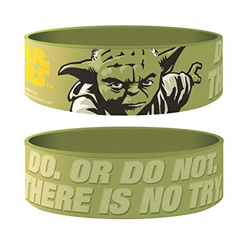 empireposter Star Wars - Yoda - Armband für Sammler grün - 24x65x1 mm dehnbar